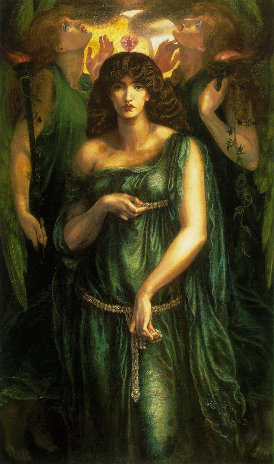 Göttin Unterwelt Mythologie B A3 01359 Proserpine Dante Gabriel Rossetti röm